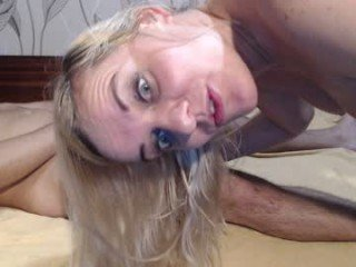 evelyne23 depraved blonde cam girl presents her pussy drilled